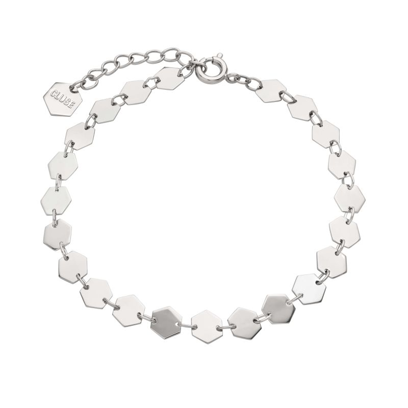Ladies CLUSE Silver Plated Essentielle ​All ​Hex​agons​ Bracelet CLJ12009