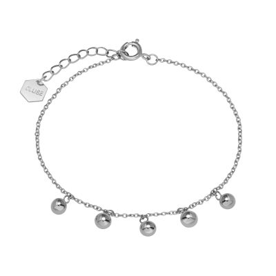 Ladies CLUSE Silver Plated Essentielle Silver ​Orbs Chain ​Bracelet CLJ12011