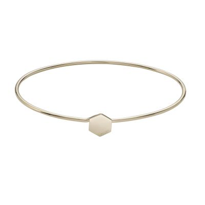 Ladies CLUSE Gold Plated Essentielle ​Hexagon Bangle Bracelet CLJ11001