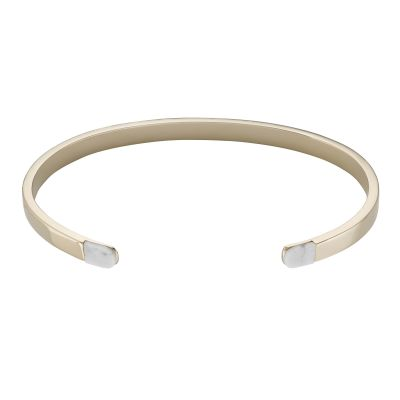 Ladies CLUSE Gold Plated Idylle ​Marble ​Open ​Cuff Bracelet CLJ11006