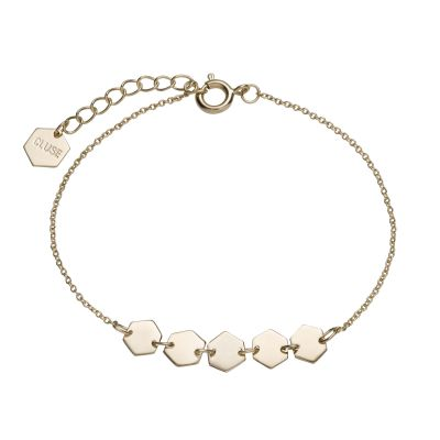 Ladies CLUSE Gold Plated Essentielle ​Hexagons Chain ​Bracelet CLJ11007
