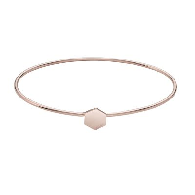 Ladies CLUSE Rose Gold Plated Essentielle ​Hexagon Bangle Bracelet CLJ10001