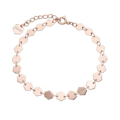 Ladies CLUSE Rose Gold Plated Essentielle ​All ​Hexa​go​n Bracelet CLJ10009