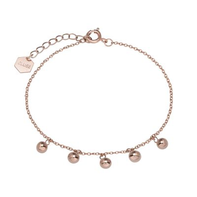 Ladies CLUSE Rose Gold Plated Essentielle Orbs Chain ​Bracelet CLJ10011