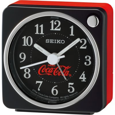 Seiko Clocks Bedside Clock Unisexuhr in Rot QHE905K