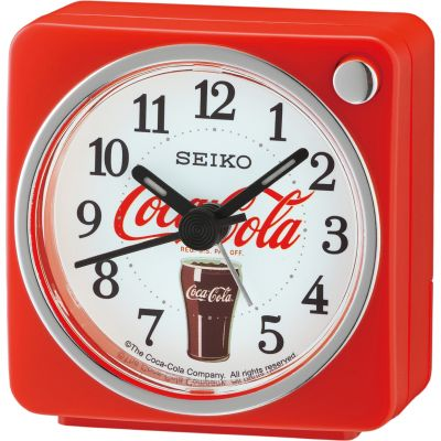 Seiko Clocks Bedside Clock Unisexuhr in Rot QHE905R