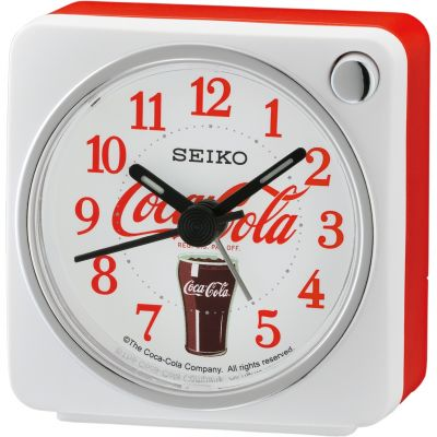 Seiko Clocks Bedside Clock Unisexuhr in Rot QHE905W