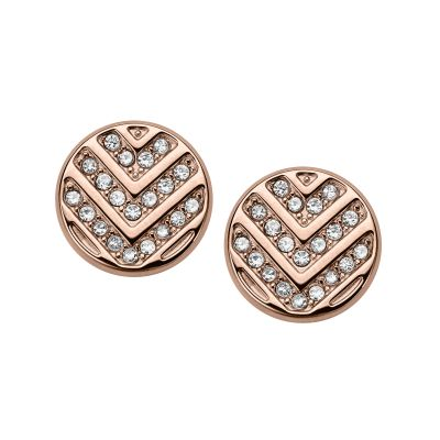 Fossil Dames Earrings Verguld Rose Goud JF02745791