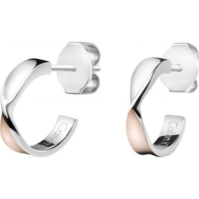 Ladies Calvin Klein Two-Tone Steel and Rose Plate Supple Earrings KJ7SPE200100