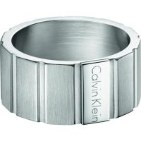 Mens Calvin Klein Stainless Steel Size T/U Plate Ring Size U KJ5SMR080110