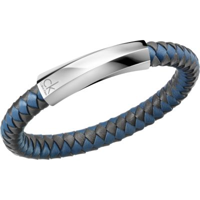 f49aa638d0b883 Gioielli da Calvin Klein Jewellery Bewilder Leather Bracelet KJ2BAB09020L