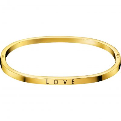 Calvin Klein Dam Hook Love Bangle Guldpläterad KJ06JD19010S
