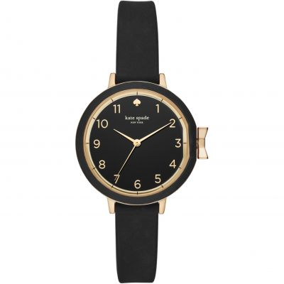 Kate Spade New York Park Row Silicone Damenuhr in Schwarz KSW1352