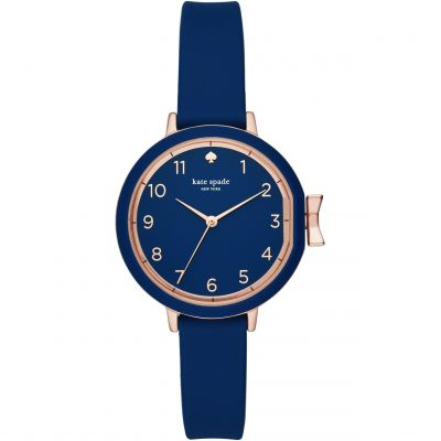 Kate Spade New York Park Row Silicone Damenuhr in Blau KSW1353