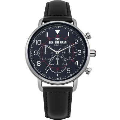 Ben Sherman Portobello Military Herrenchronograph in Schwarz WB068UB