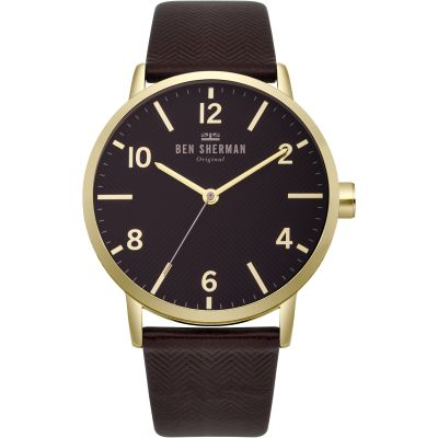 Ben Sherman Biig Portobello Herringbone Herrenuhr in Braun WB070RB
