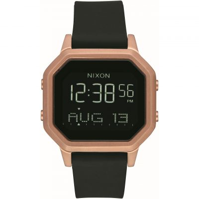 Unisex Nixon The Siren SS Alarm Chronograph Watch A1211-1098