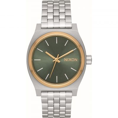 Nixon The Medium Time Teller Unisex horloge Zilver A1130-2877