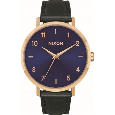 Nixon The Arrow Leather Gift Set Damenuhr in Schwarz A1230-933