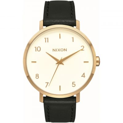 Nixon The Arrow Leather Damenuhr in Schwarz A1091-2769
