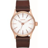 Mens Nixon The Sentry 38 Leather Watch A377-2630