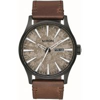 Mens Nixon The Sentry Leather Watch A105-2867