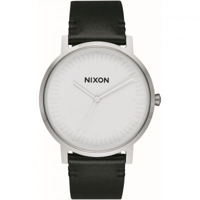 Nixon The Porter Leather Unisexklocka Svart A1058-2855