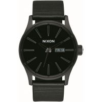 Mens Nixon The Sentry Leather Watch A105-1147