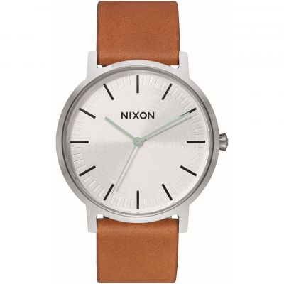 Nixon The Porter Leather Unisex horloge Bruin A1058-2853