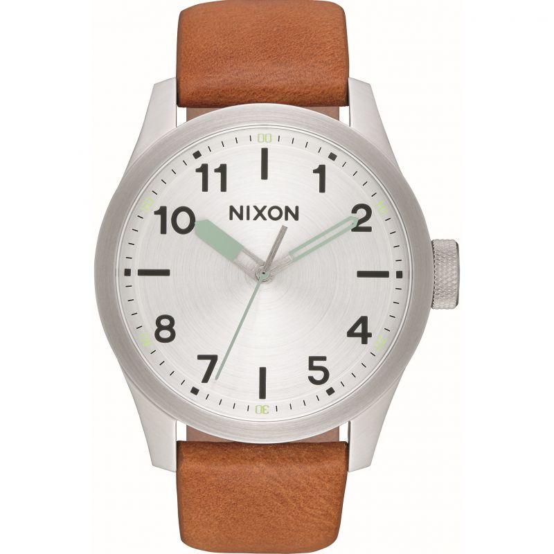 Mens Nixon The Safari Leather Watch