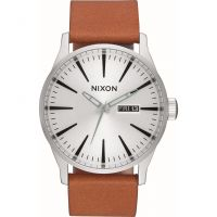 Mens Nixon The Sentry Leather Watch A105-2853