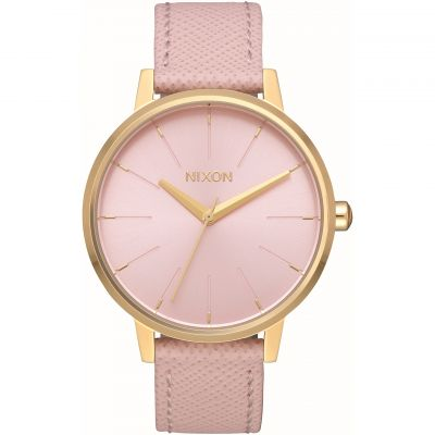 Nixon The Kensington Leather Damklocka Rosa A108-2813