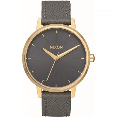 Nixon The Kensington Leather Damklocka Grå A108-2815