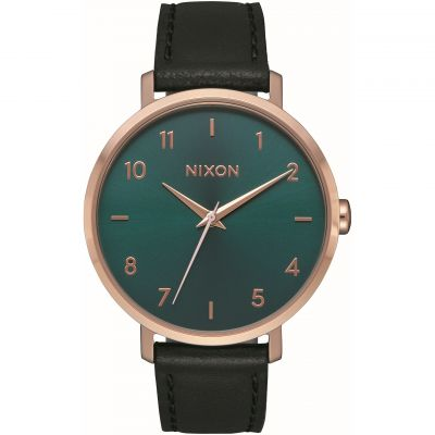 Nixon The Arrow Leather Dameshorloge Zwart A1091-2805