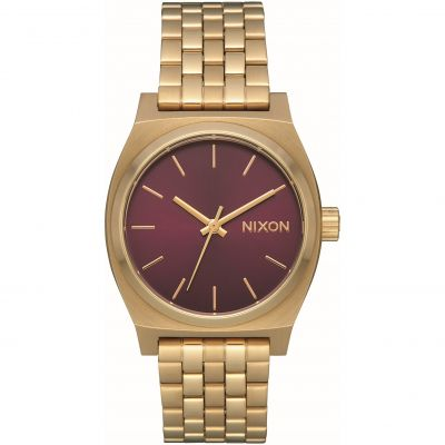 Nixon The Medium Time Teller Unisex horloge Goud A1130-2809