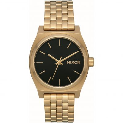 Nixon The Medium Time Teller Unisex horloge Goud A1130-2810