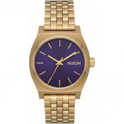 Nixon The Medium Time Teller Unisex horloge Goud A1130-2811