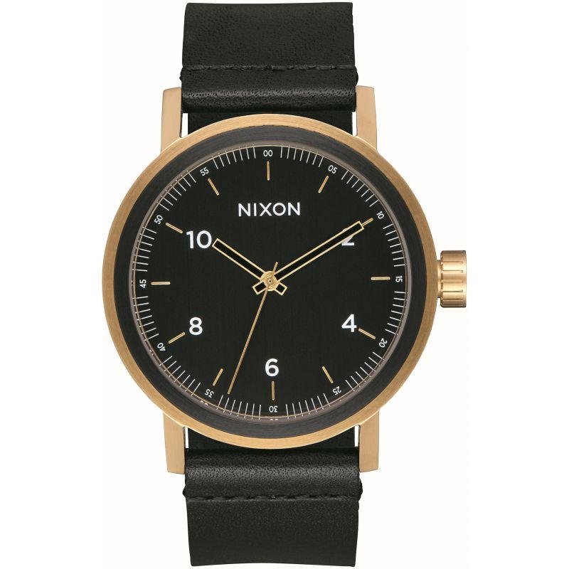 Mens Nixon The Stark Leather Watch