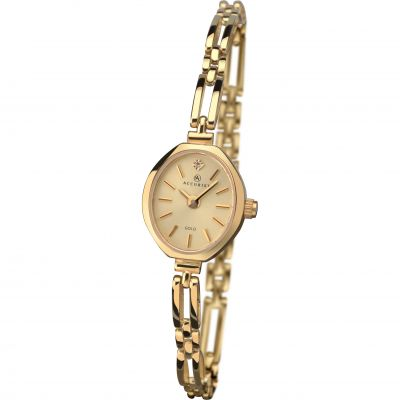 Ladies Accurist 9ct Gold Diamond Watch 8804