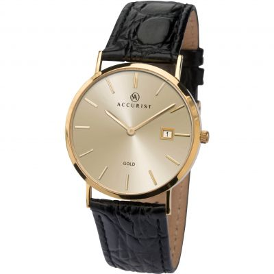 Accurist Gold Herrklocka Svart 7802