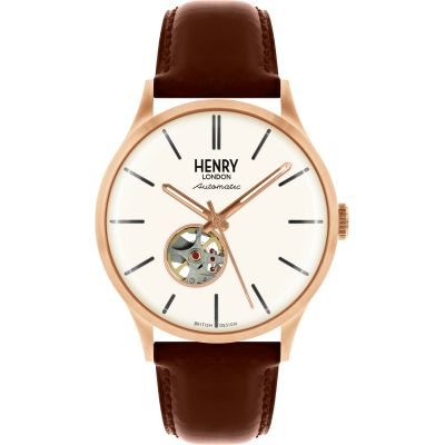 Henry London Heritage Herenhorloge Bruin HL42-AS-0276
