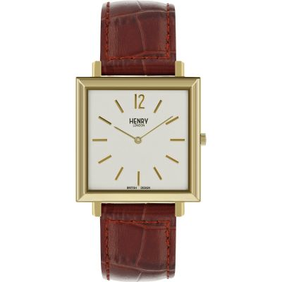 Mens Henry London Heritage Square Watch HL34-QS-0268
