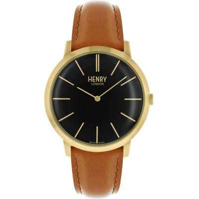Henry London Iconic Herenhorloge Bruin HL40-S-0242