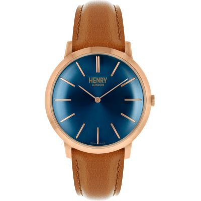 Henry London Iconic Herenhorloge Bruin HL40-S-0244