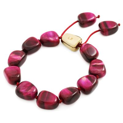 Ladies Lola Rose Gold Plated Amelia-Lily Fuchsia Tigers Eye Bracelet 2O1220-427000