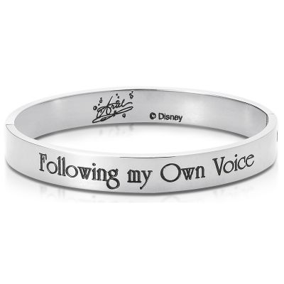 Ladies Disney Couture Silver Plated Ariel Message Bangle DSB348
