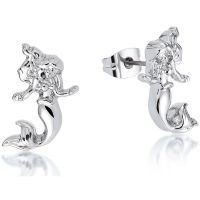 Ladies Disney Couture Silver Plated Ariel Stud Earrings DSE343