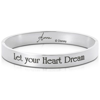 Ladies Disney Couture Silver Plated Aurora Message Bangle DSB376