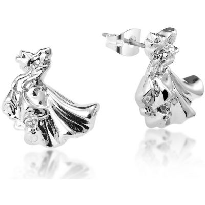 Ladies Disney Couture Silver Plated Aurora Stud Earrings DSE364