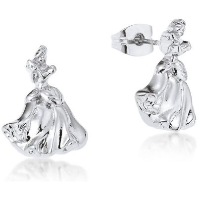 Ladies Disney Couture Silver Plated Cinderella Stud Earrings DSE362